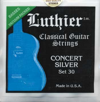 Luthier Concert Silver Set 30 Saiten für Konzertgitarre