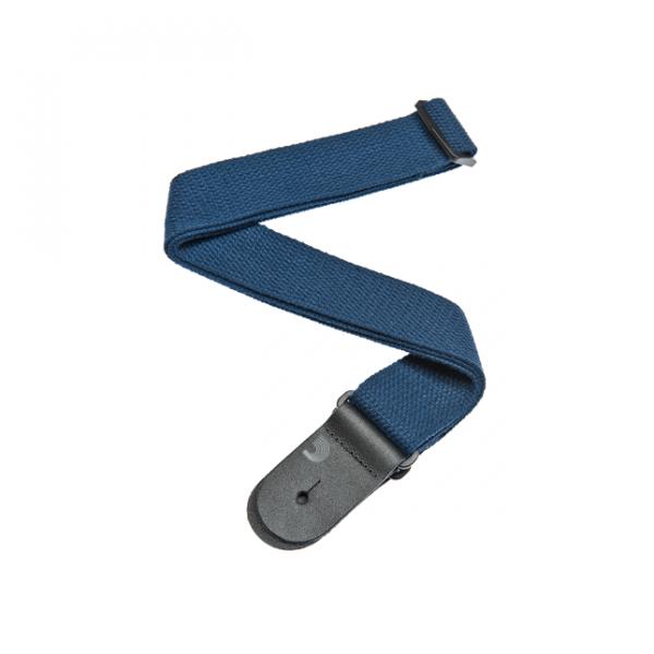 D`Addario Gitarrengurt Baumwolle blau