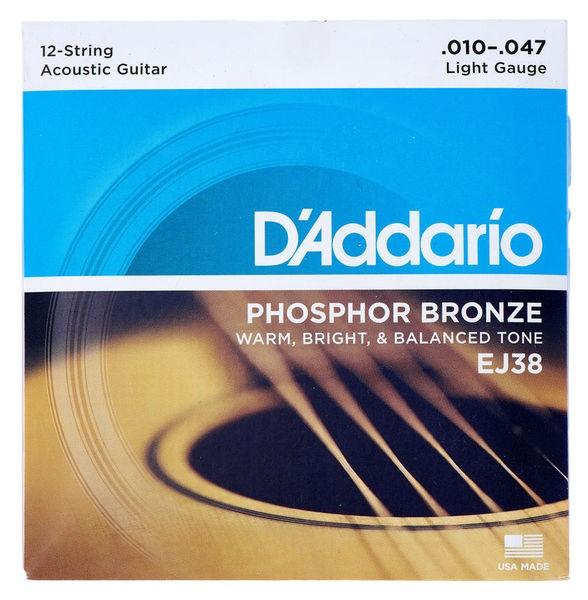 D`Addario EJ38 Saiten für 12saiter Akustikgitarre
