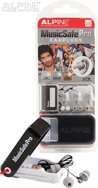 Hearsafe Gehörschutz Alpine Pro Music-Safe Pro silver
