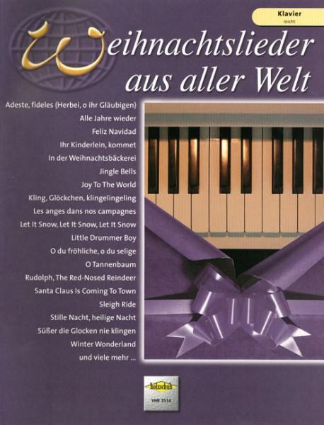 Weihnachtslieder aus aller Welt Klavier leicht