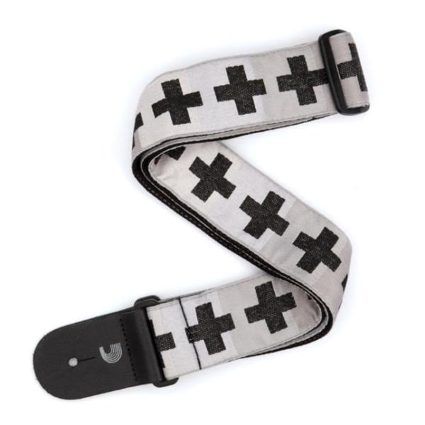 D`Addario Gitarrengurt Checcked Crosses