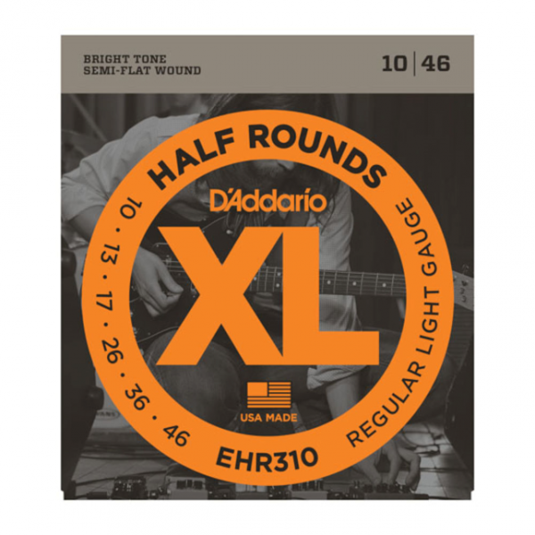 D`Addario EHR310 Half Round Regular