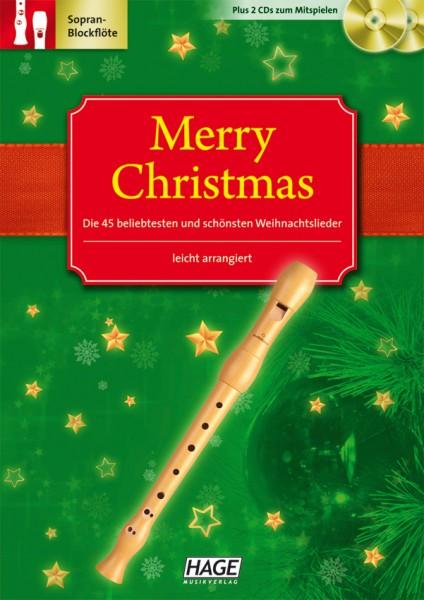 Merry Christmas C-Blockflöte (mit 2 CDs)